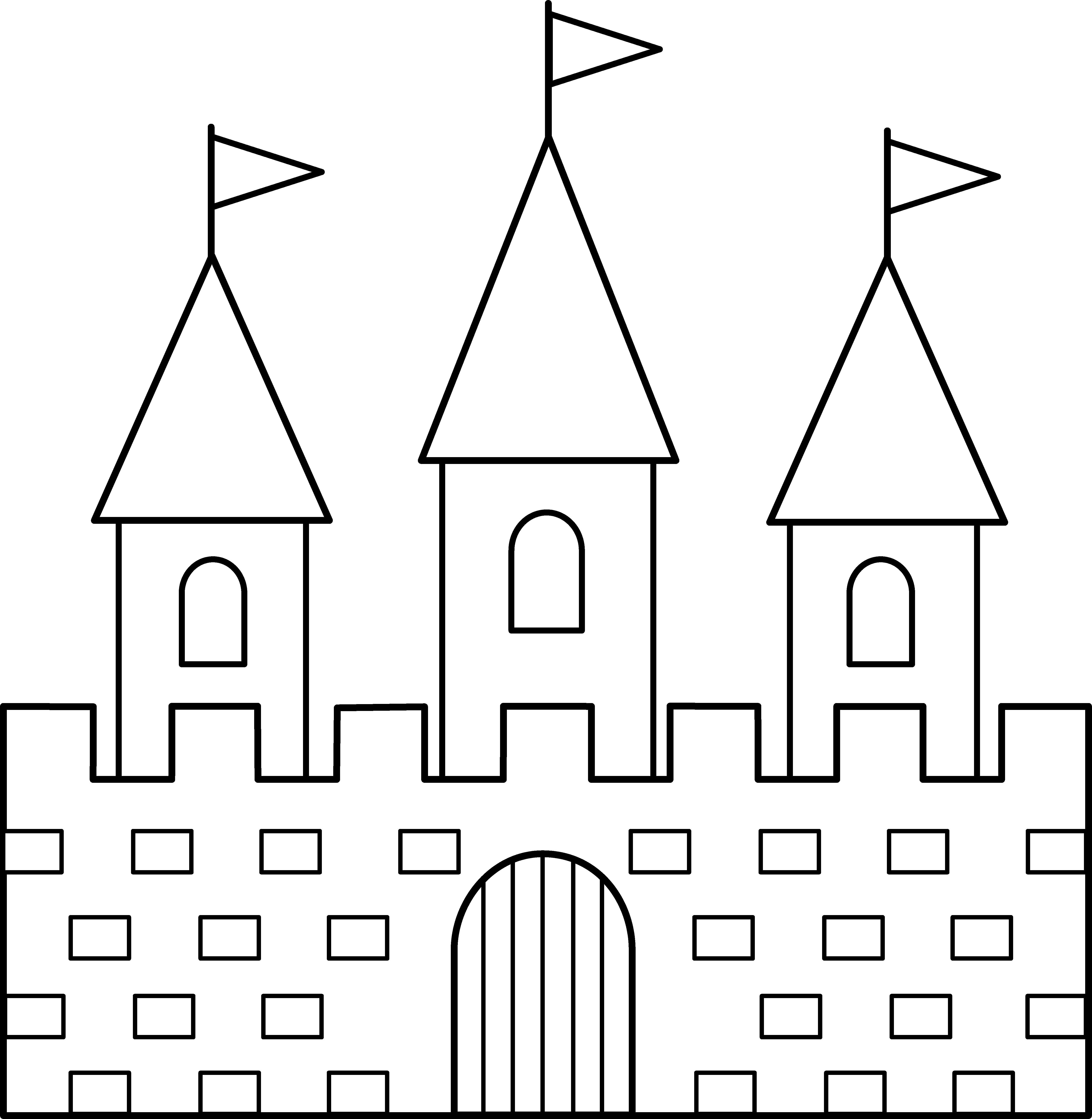 castle_line_art